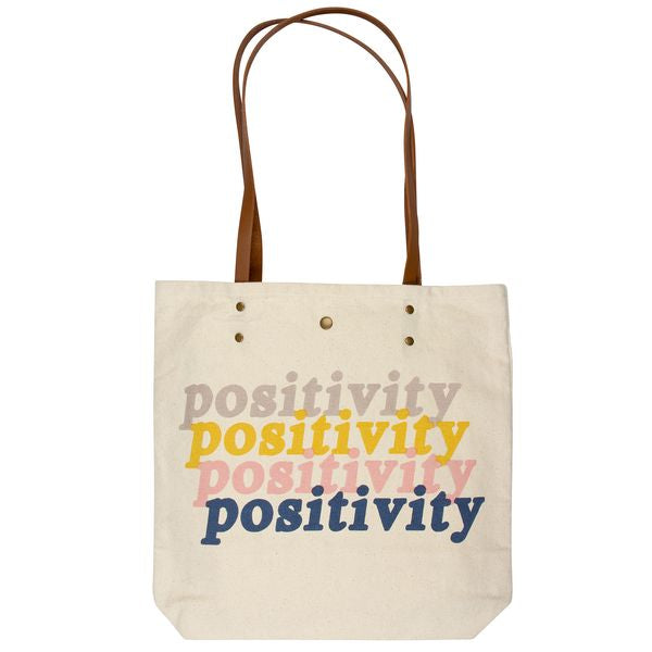 Positivity - Canvas Tote