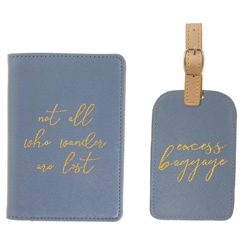 Wander - Passport Holder + Luggage Tag Set