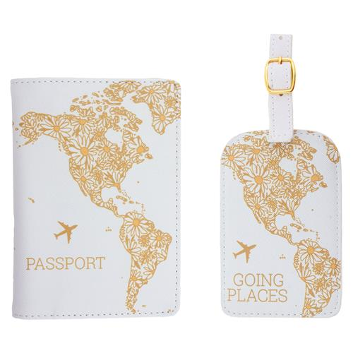 Going Places - Passport Holder + Luggage Tag Set