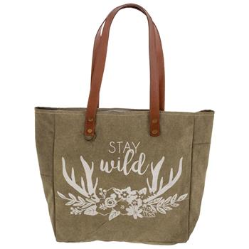 Stay Wild - Stone Washed Canvas Tote