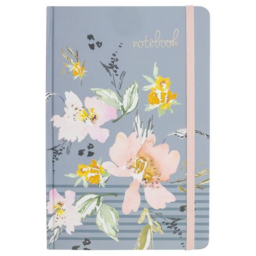 Gray Floral - Journal