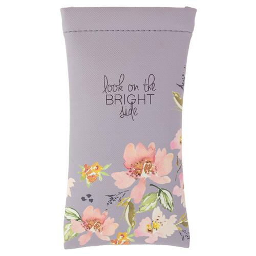 Gray Floral - Eyeglass Case