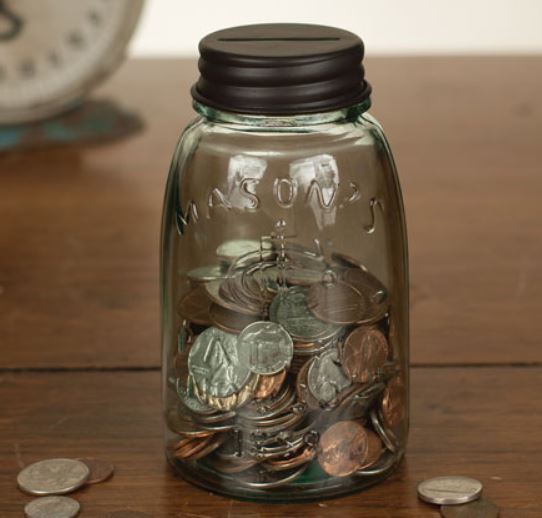 Mason Jar Coin Bank