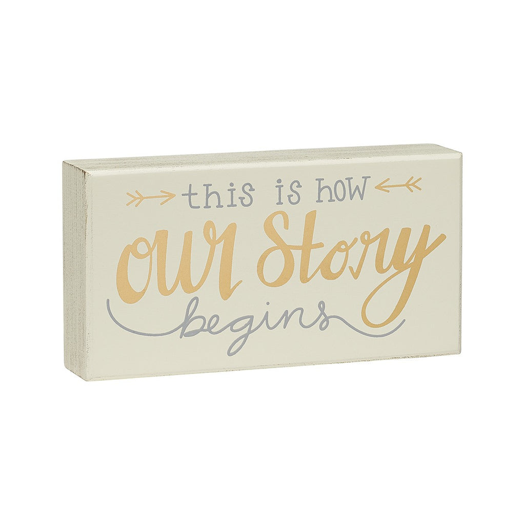 Our Story - Box Sign