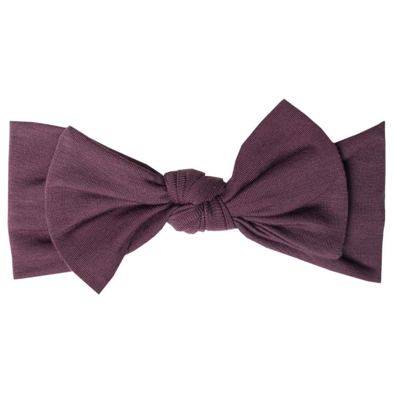Plum - Knit Headband Bow