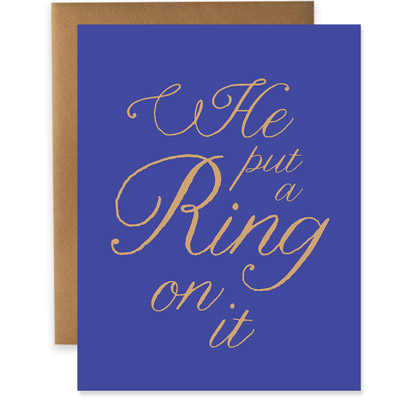 He Put a Ring On It - Navy