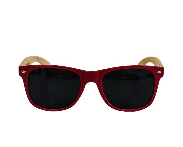 Matte Red MN Bamboo Sunglasses