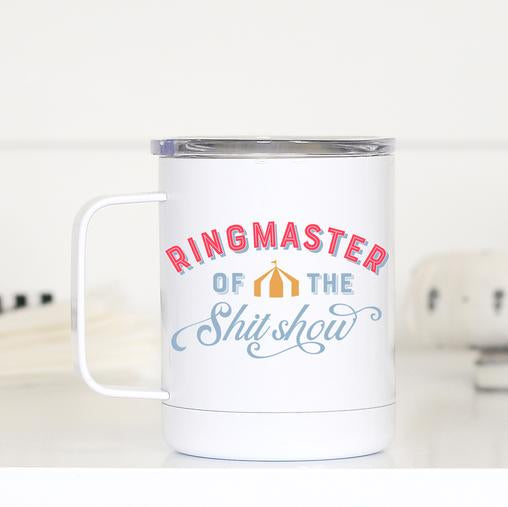 Ring Master of the Shitshow Travel Mug with Handle