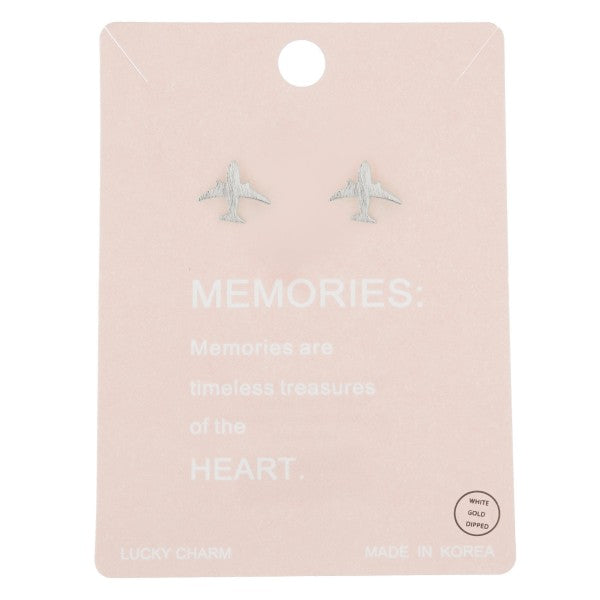 Airplane Memories Stud Earrings