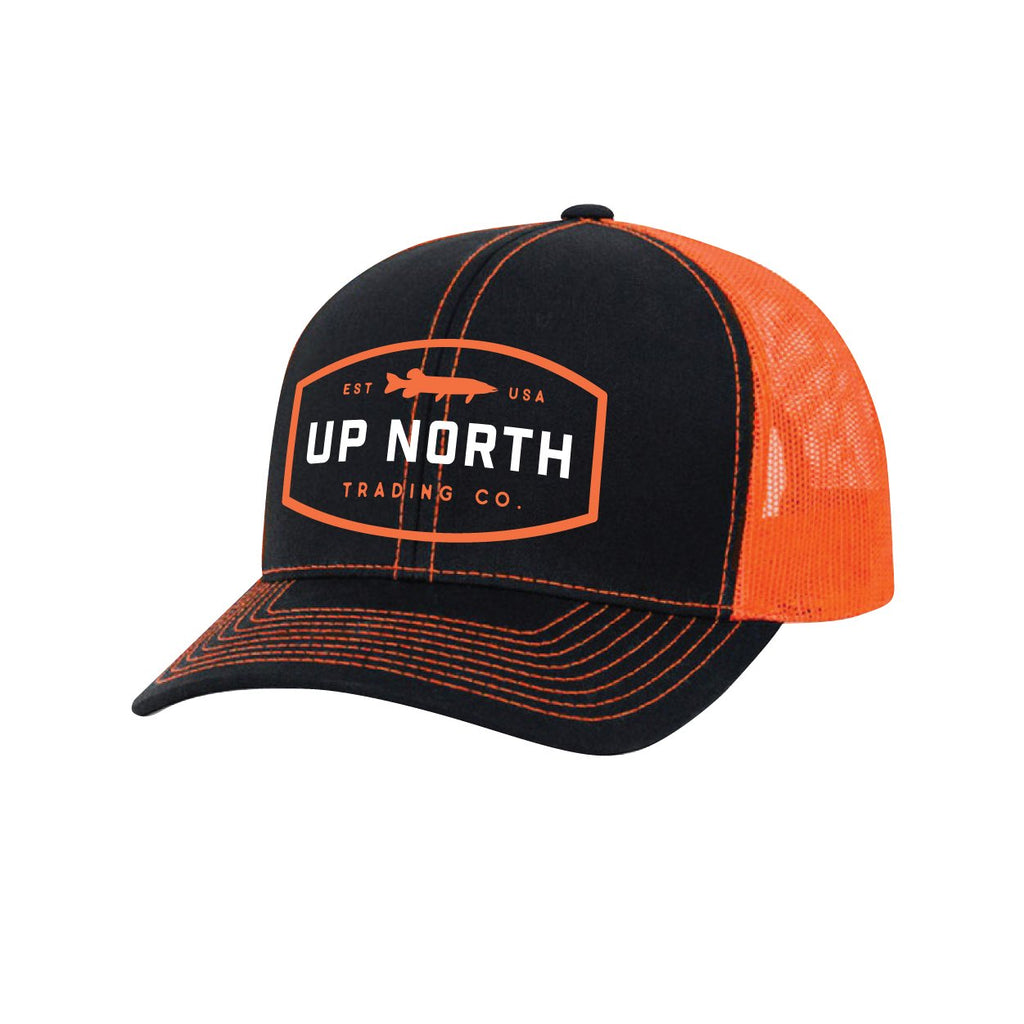 Black/Orange Northern/Muskie Snapback