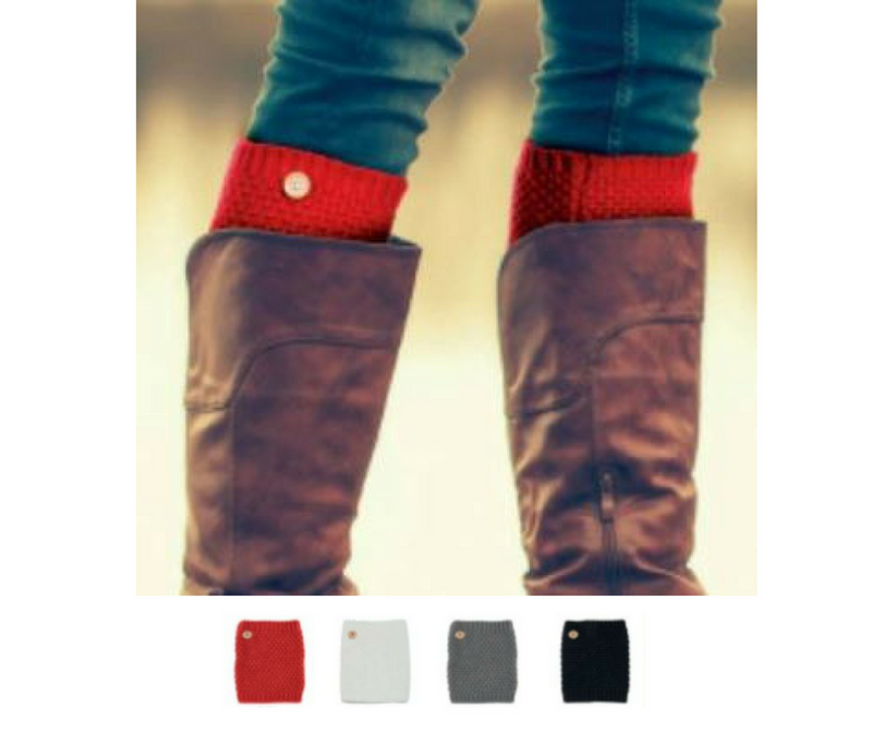 Button Point Boot Cuffs