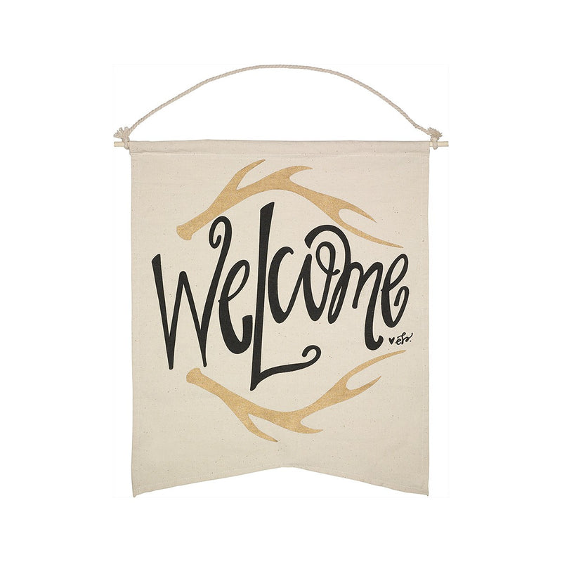 Welcome - Canvas Banner