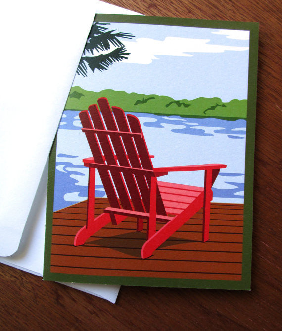 Adirondack chair card with envelope