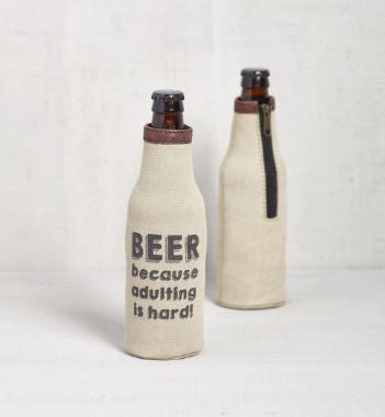 Because Adulting is Hard- Bottle Koozie
