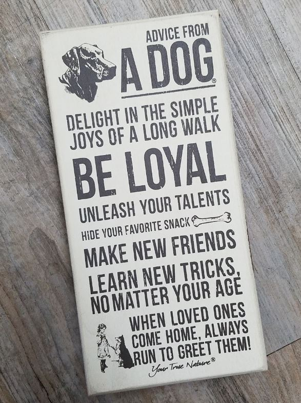 Advice from a Dog Sign