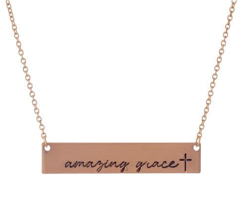 Amazing Grace Inspirational Necklace