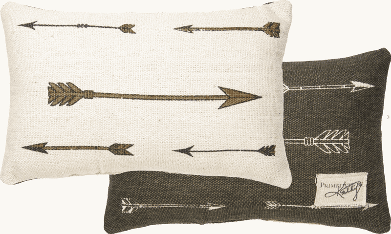 antique arrow pillow