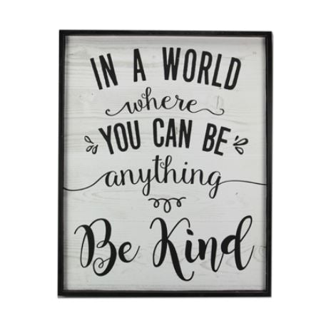 Be Kind - Wall Art