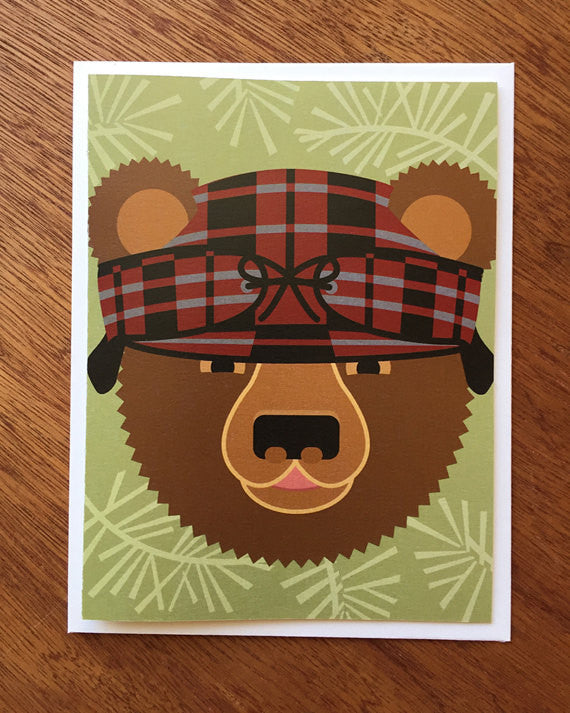 cindy lindgren bear note card