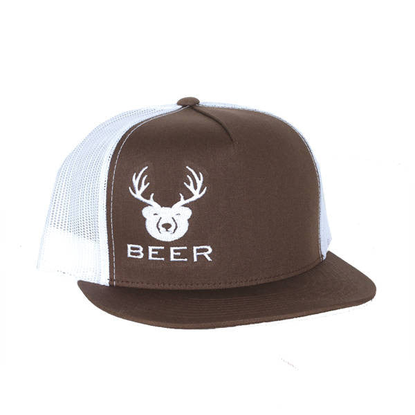 brown beer trucker hat snapback