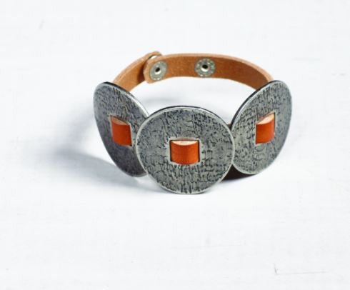 Brocade Leather Bracelet