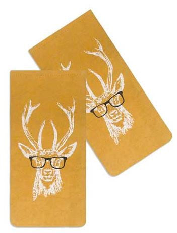 buck with spectacles mustard yellow case