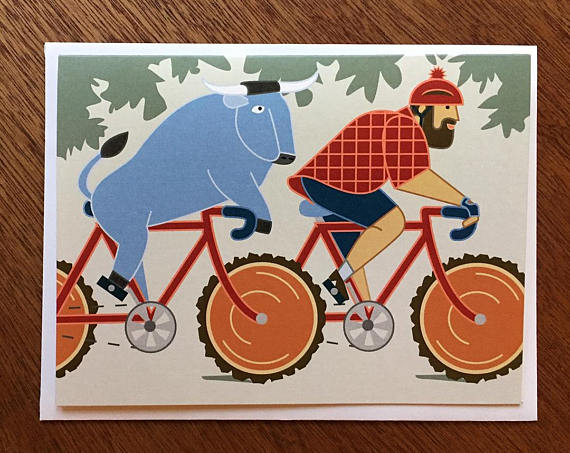 Bunyan Bike - Note Card