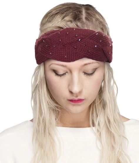 Beaded Knit Headband