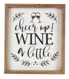 Cheer up! Wine Sign
