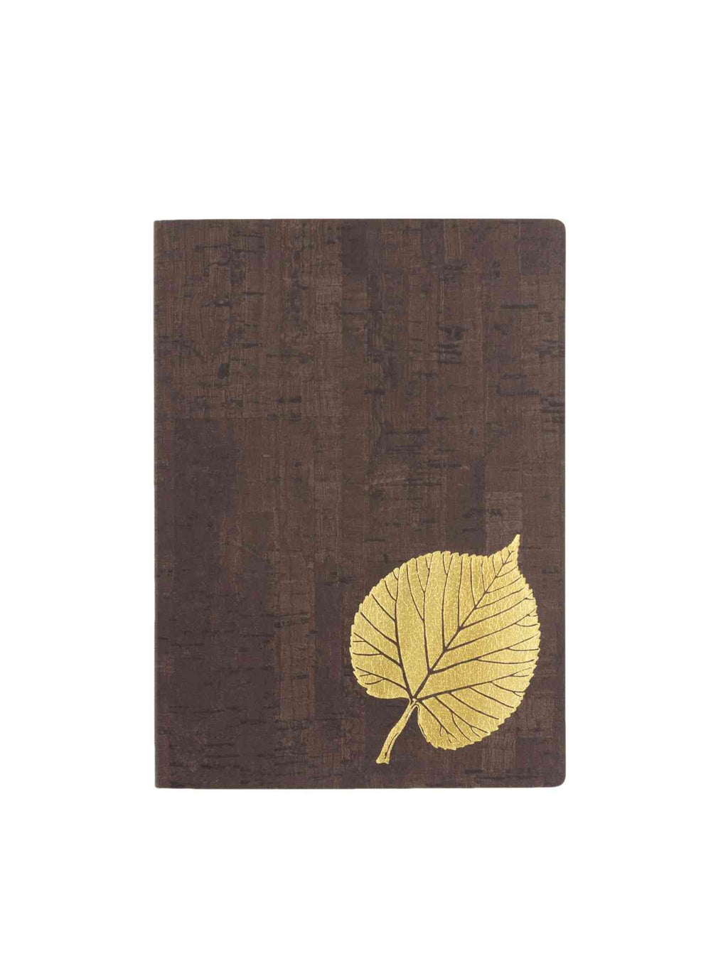 cork pattern journal with gold leaf