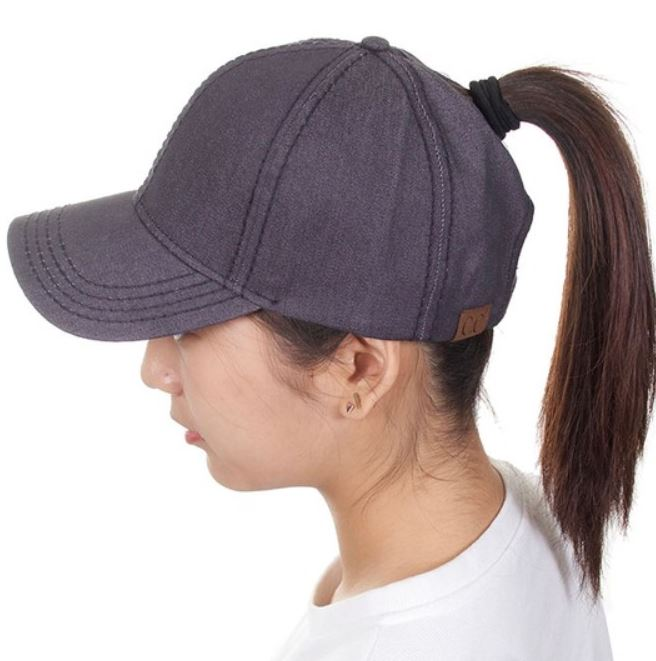 Denim CC Pony Tail Ballcaps