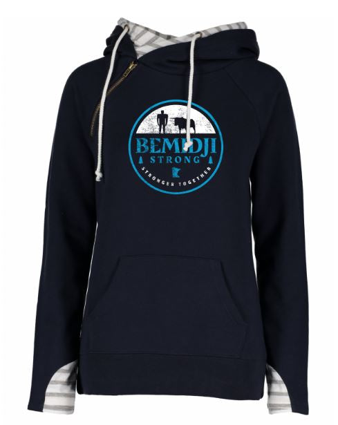 Women's Double Hoodie - Bemidji Strong