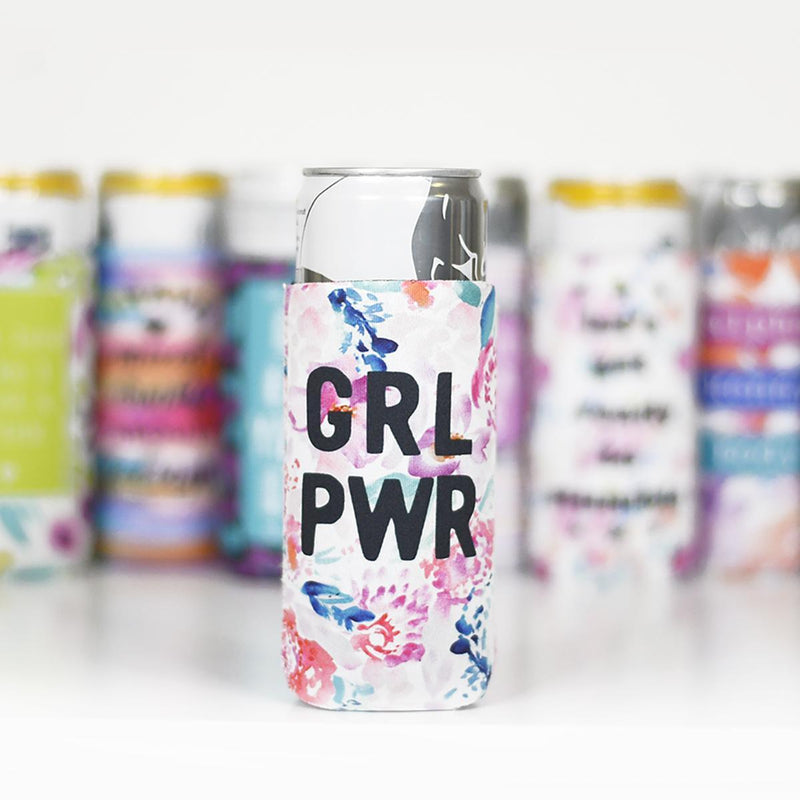 GRL PWR - Slim Can Koozie