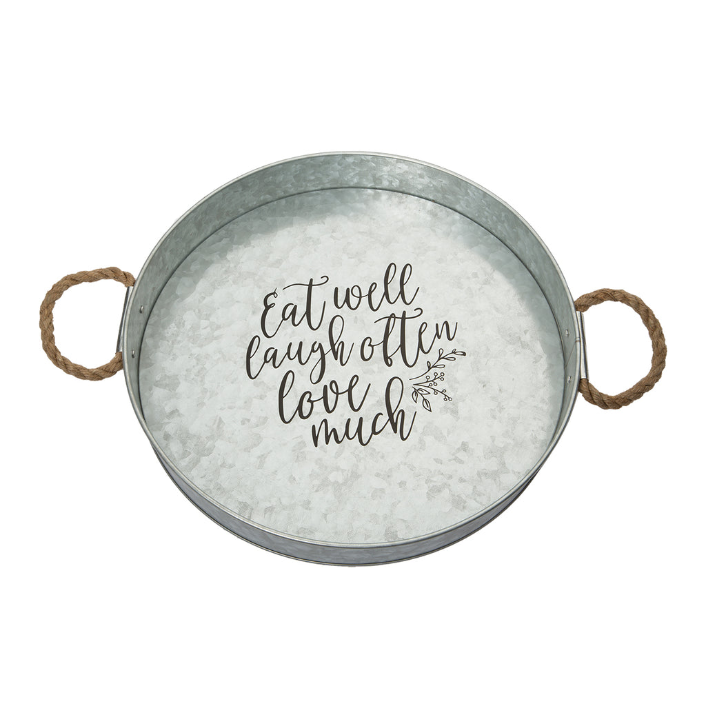 Eat Well Large Round Tray