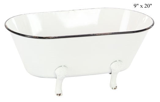 Enamel Tub Planter