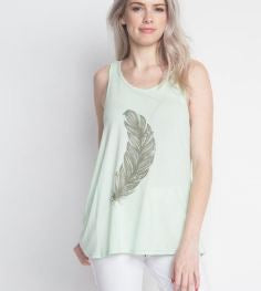 Mint Feather Tank
