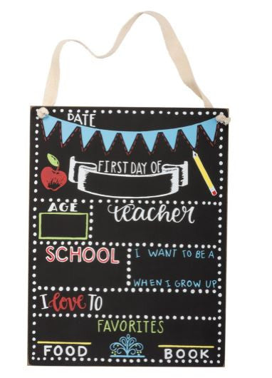 First Day of School - Chalk Board Sign