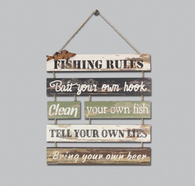 Fishing Rules Sign