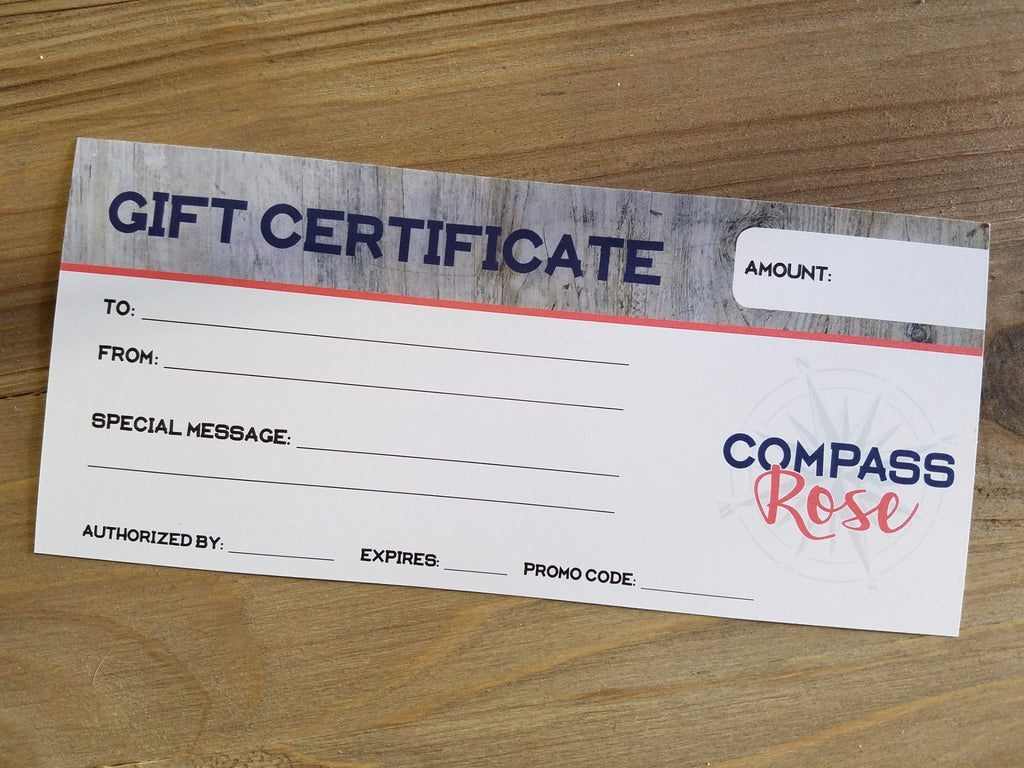 Gift Certificate - Compass Rose