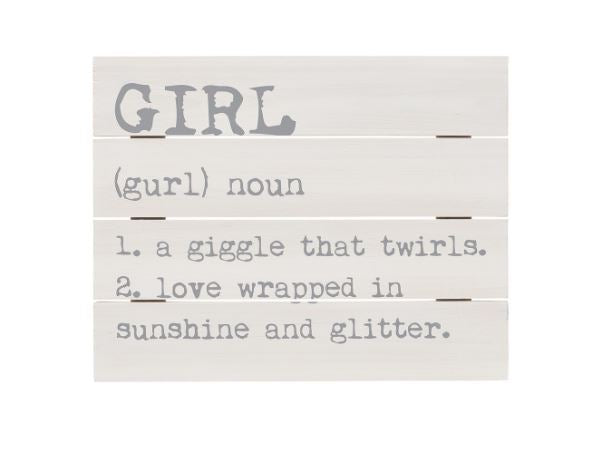 GIRL - Definition Pallet Sign