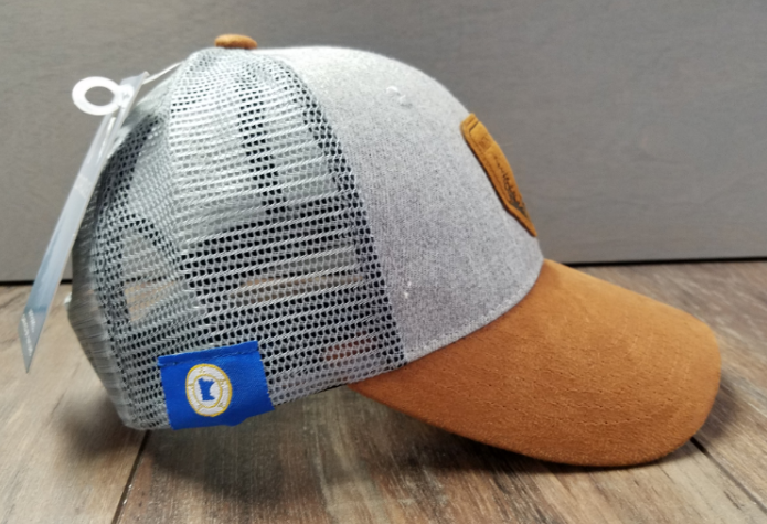 Gray & Leather - MN Hat