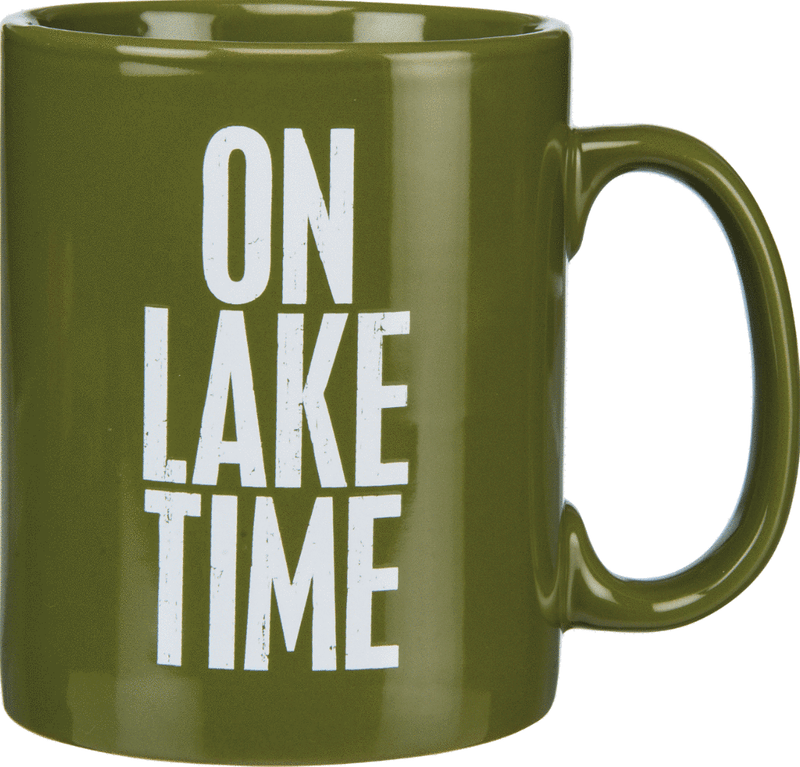 green on lake time coffee mug