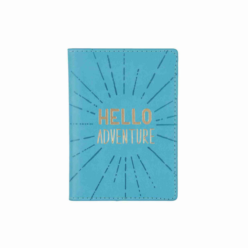 hello adventure teal passport case cover