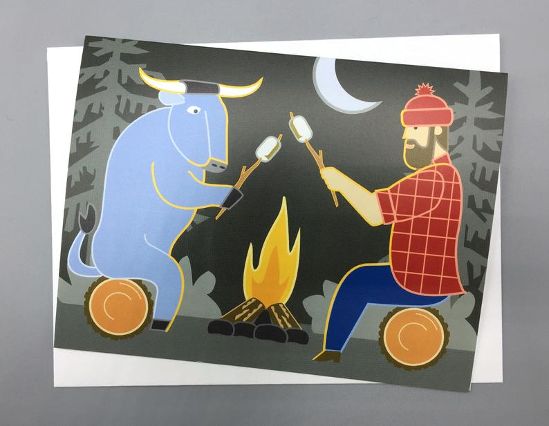Bunyan Campfire - Note Card