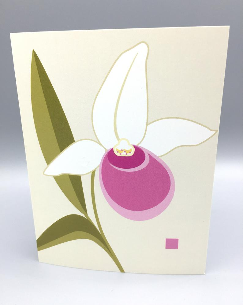 Lady Slipper - Note Card