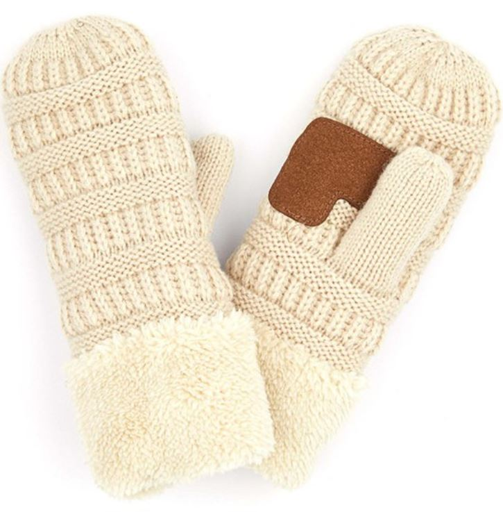 CC Knit Mittens - Multiple Colors
