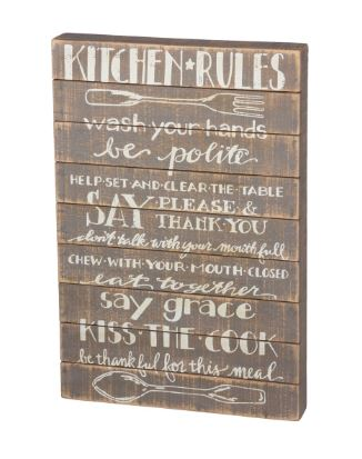 Kitchen Rules - Sign