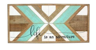 life is an adventure barn wood sign