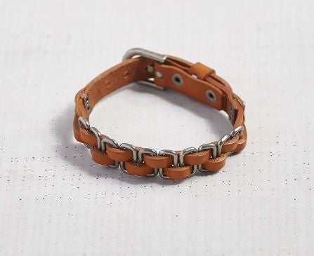 Linked To You - Leather Bracelet