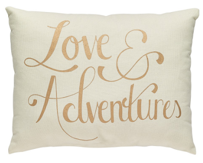 love and adventures pillow
